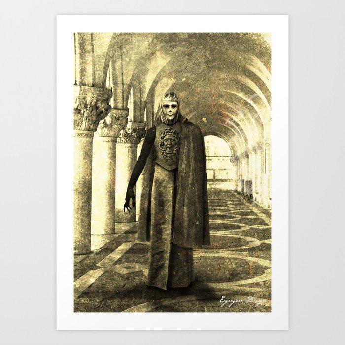 Dark Victorian Portrait: King in Yellow (Clean) Art Print