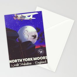 North York Moors Vintage travel poster Stationery Cards