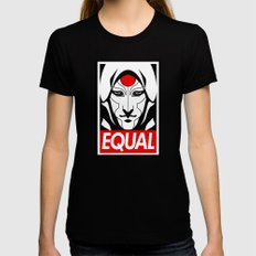 Equal Womens Fitted Tee LARGE Black