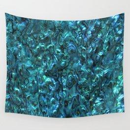 Abalone Shell | Paua Shell | Cyan Blue Tint Wall Tapestry