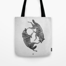 Two Wolves : Cherokee Tale Tote Bag