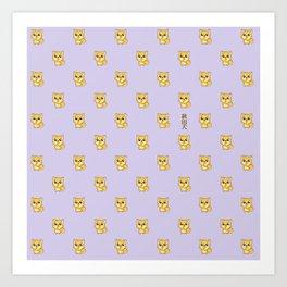 Hachikō, the legendary dog pattern Art Print