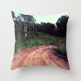 A Curve In The Road Throw Pillow