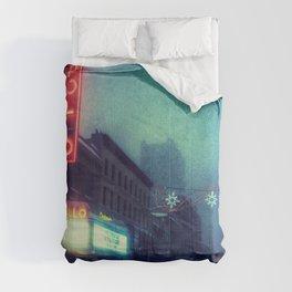 Snow Time - Apollo Theater During Winter Storm Jonas Comforters