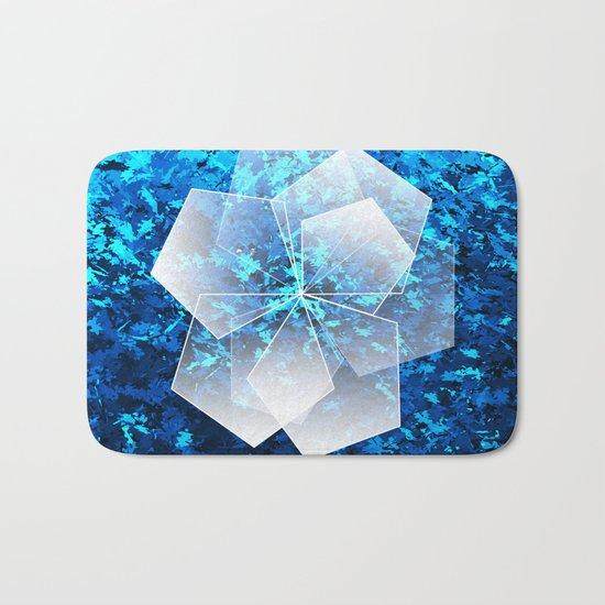 Geometric Ice Flower Bath Mat