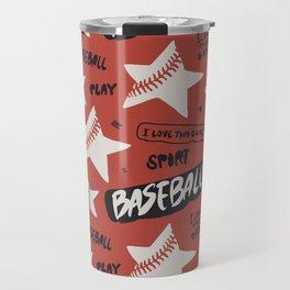 Baseball love. Travel Mug