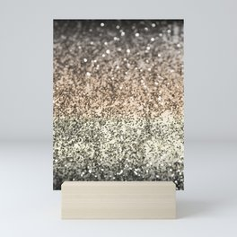 Sparkling GOLD BLACK Lady Glitter #2 #decor #art #society6 Mini Art Print