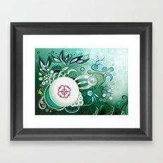 Camtric deep sea III, green Framed Art Print