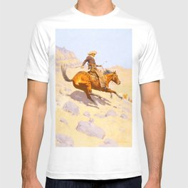 The Cowboy (1902) by Frederic Remington T-shirt