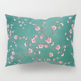 SAKURA LOVE - GREEN Pillow Sham
