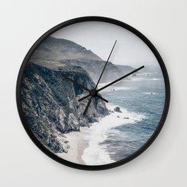 Beach Wall Art, Rocky Coast, Beach Print, Modern Wall Art Wall Clock