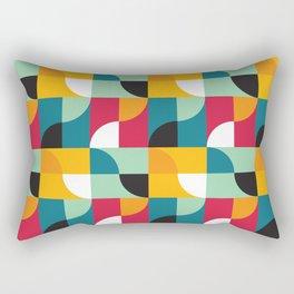 Geometric Pattern 31 (yellow red green curves) Rectangular Pillow