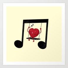 swing a LOVE song Art Print