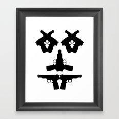 Pistol Face Framed Art Print