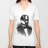 bdsm V-neck T-shirts featuring BDSM XXX by DIVIDUS