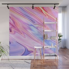 Colorful flowing marble swirls background Wall Mural