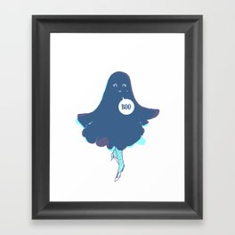 Hey, Boo! Framed Art Print