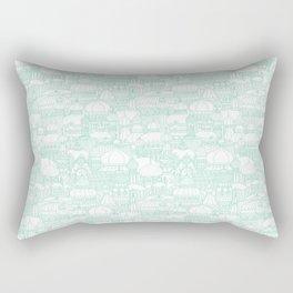 Delightful Domes - Mint Rectangular Pillow