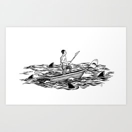 Troubled Waters Art Print