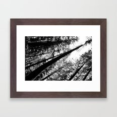 High and right Framed Art Print