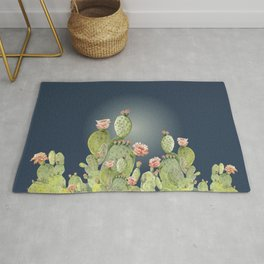 In The Moonlight - Cactus Rug