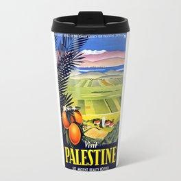Palestine, vintage travel poster Travel Mug