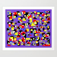 Squares and Rectangles Art Print