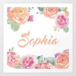 Sophia Typography Art Print