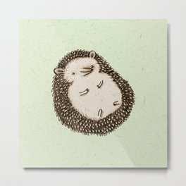 Plump Hedgehog Metal Print