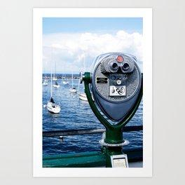 a view of Monterey Art Print