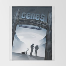 NASA Visions of the Future - Ceres, Queen of the Asteroid Belt Throw Blanket