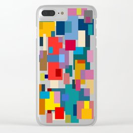 Color Blocks #6 Clear iPhone Case