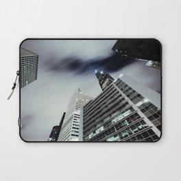 Cityscape I - Contemporary Skyscrapers Minimal Modern Studio Office Art Print Chicago Laptop Sleeve
