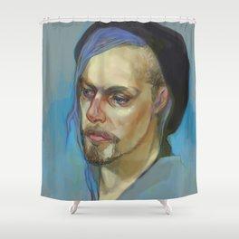 Black Hat II Shower Curtain