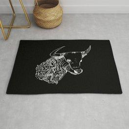 TAURUS - inverted bull - zodiac doodle series abstract Art Print Rug