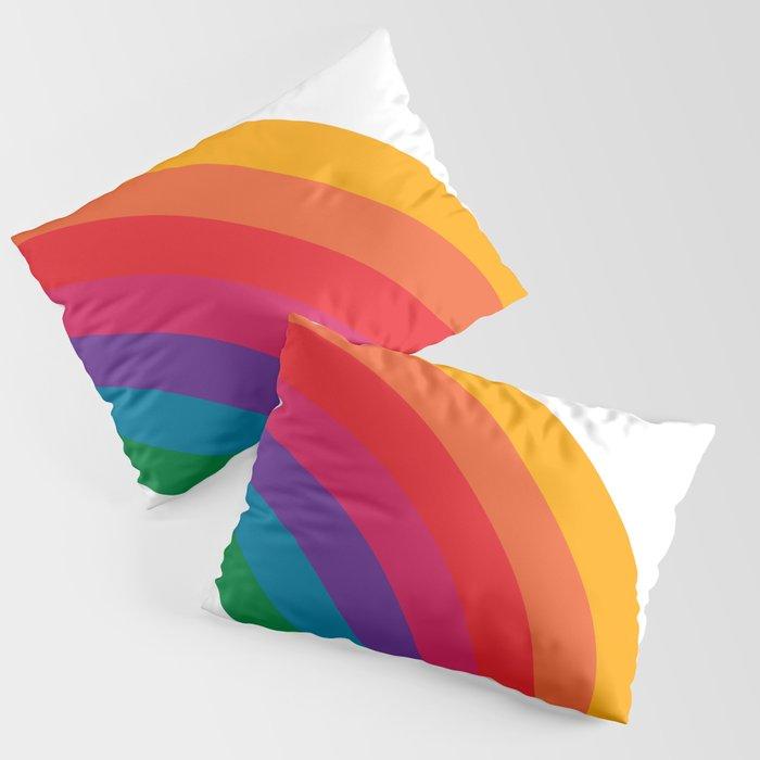 Retro Bright Rainbow - Right Side Kissenbezug