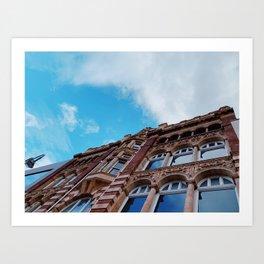 looking up Leeds Art Print