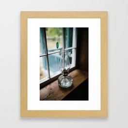 Leave a Light on When I'm Gone Framed Art Print