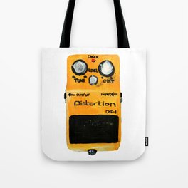Guitar Distortion Pedal Acrylics On Paper (White Edit) Tote Bag