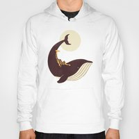 giraffe Hoodies featuring The Giraffe & the Whale by Jay Fleck