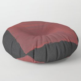 Sideways Red Square Floor Pillow