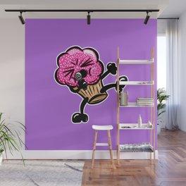Cherry Candy Cup Cake Karaoke Cartoon Wall Mural