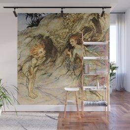 """Puck and a Fairy"" by Arthur Rackham Wall Mural"