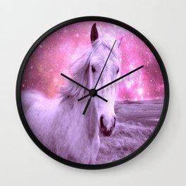 Pink Horse Celestial Dreams Wall Clock