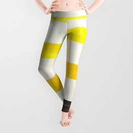 Yellow Watercolor Geometric Pattern Lightning Bolt Leggings