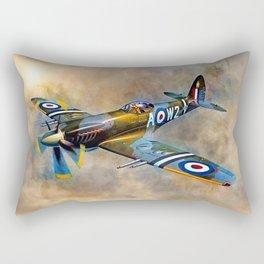 Spitfire Dawn Flight Rectangular Pillow