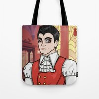 monster high Tote Bags featuring Draculogan Monster High Artwork MHSQ by KittRen