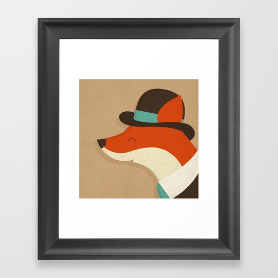 City Fox Framed Art Print