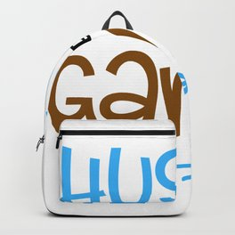 hush the game is on football Backpack