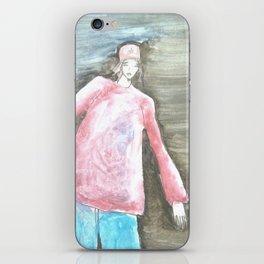 man with dreadlocks iPhone Skin